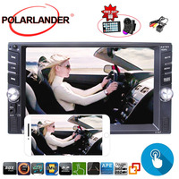 MP5 Player 6.6 inch Car Radio 2 Din Mirror For Android Phone With Rear Camera Mirror Link Screen Bluetooth