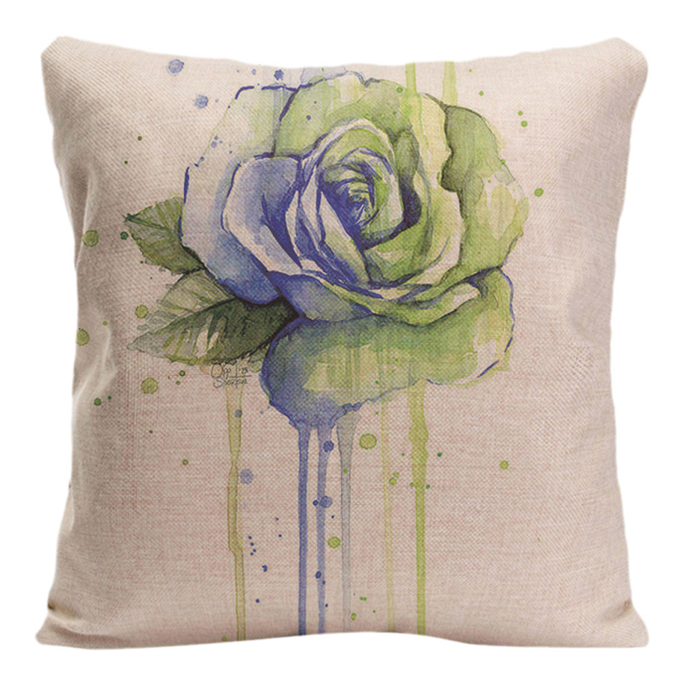 beautiful flower cushion covers decorative pillows for sofa car covers peony pillow case cotton. Black Bedroom Furniture Sets. Home Design Ideas