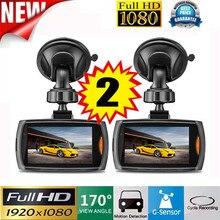2x Car 1080 P 2.2 Full HD DVR Камеры для Авто регистраторы видео g-сенсор ночного видения May29 заводская цена 2017