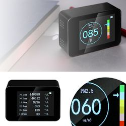 Tester jakości powietrza przenośne urządzenie laserowe detektor PM2.5 inteligentny Monitor do domowego biura samochodu