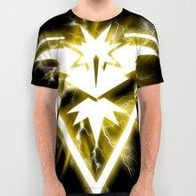 a3b69715 2018 Printing Clothing Pokemon Go Team Valor Mystic Instinct Men's Short  Sleeved T-shirt Tee Tops Short Sleeve Tees