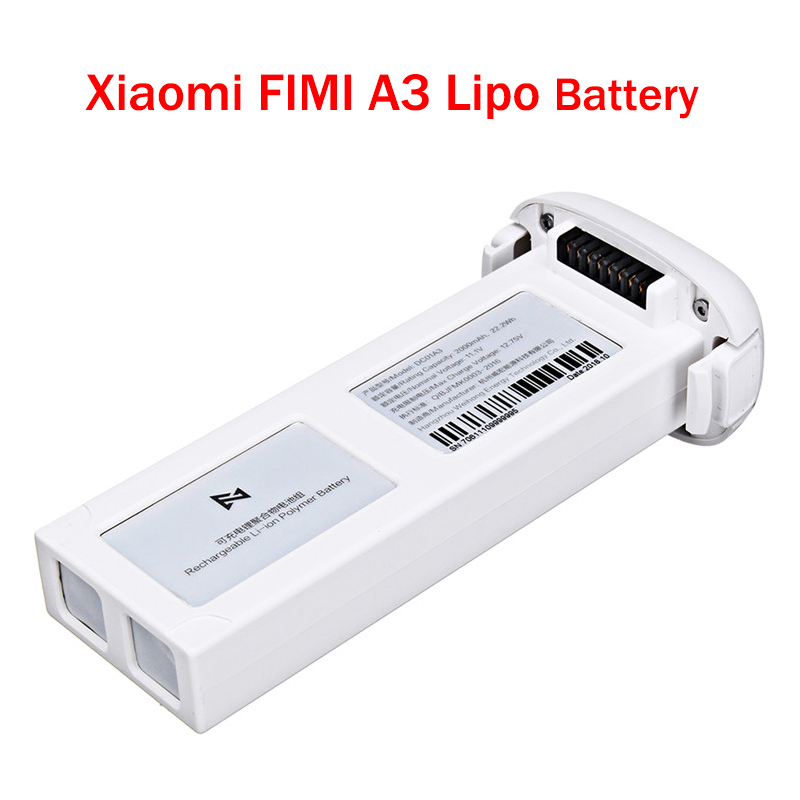 For <font><b>FIMI</b></font> <font><b>A3</b></font> RC Quadcopter Spare Parts 11.1V 2000mAh 3S Rechargeable MI Intelligent Lipo <font><b>Battery</b></font> for Rc Drone Accessories image