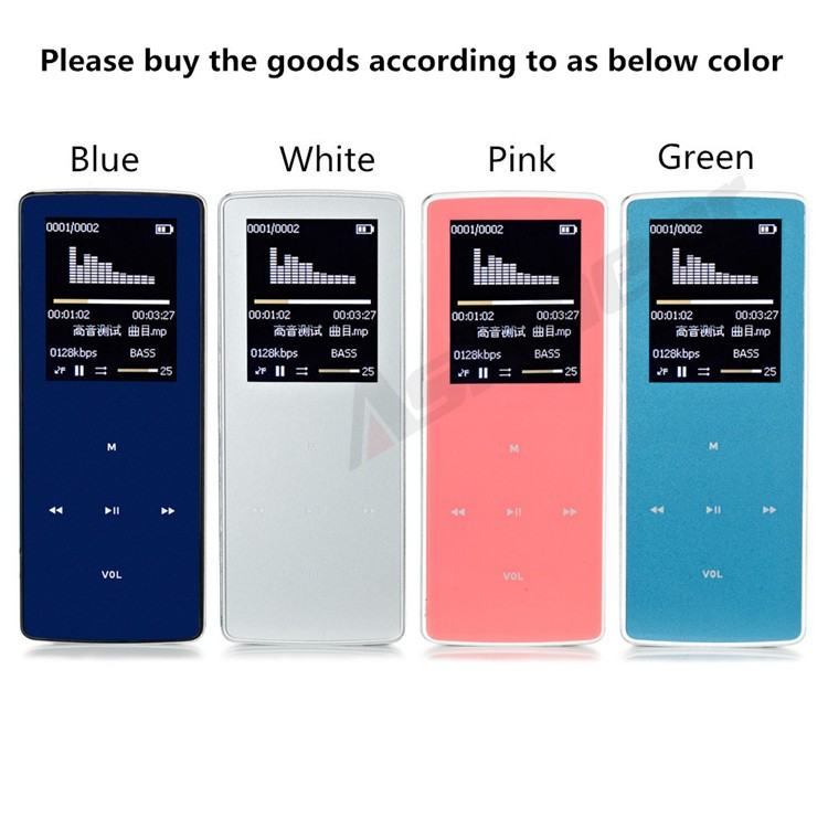ONN W6 Rechargeable 8GB Bluetooth MP3 Player Mini Sport Mp3 HIFI Lossless Music Media Audio Player with 1.8 TFT Screen Fm Radio (21)