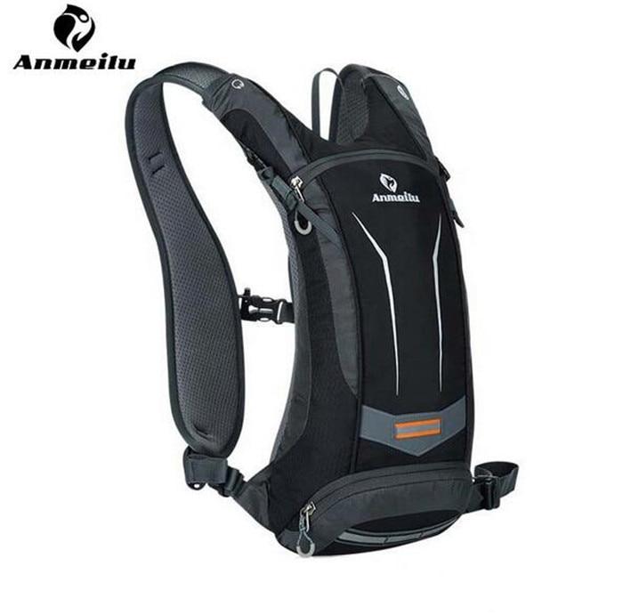 ФОТО ANMEILU Waterproof Sports Backpack Rucksack Outdoor Cycling Climbing Hiking Shoulders Bag Men Travel Bags + 2L Water Bag