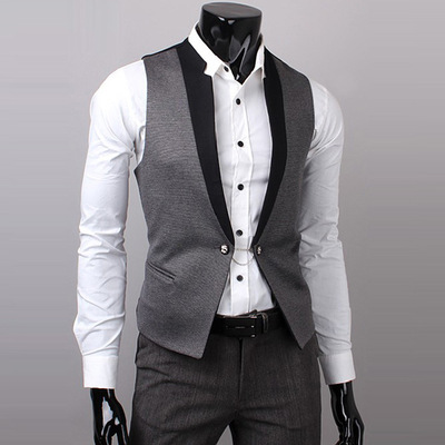 2017 New Mens Suits Men Slim Fashion Vest Dress Sleeveless Wool Vest Formal Business Casual Groom Groomsman Homens Colete 5893 Men's Clothing