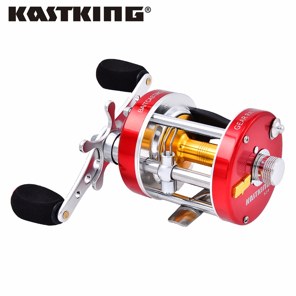 Kastking rover right left hand kit pesca round baitcasting for Left handed fishing reels