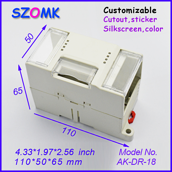 electronic project box for Diy housing 4 pcs 110 50 65mm electrical cabinet abs plastic enclosure