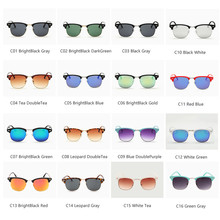 2018 TOP 16 Color Lens Luxury Brand High Quality Rays Sunglasses Women Men Round Shades Ladies Aviator Sun Glasses UV400