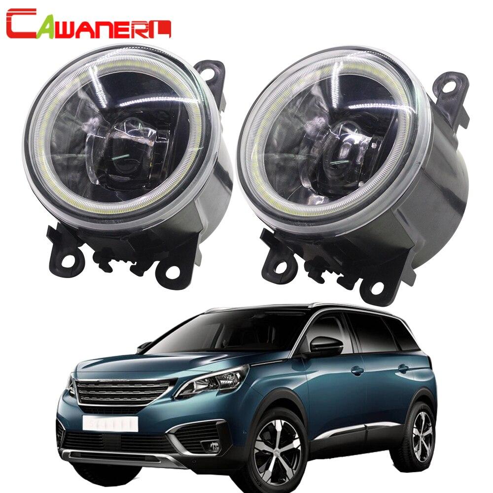 Cawanerl For Peugeot 5008 2009 2018 Car H11 LED Bulb Front Fog Light Kit 4000LM Angel