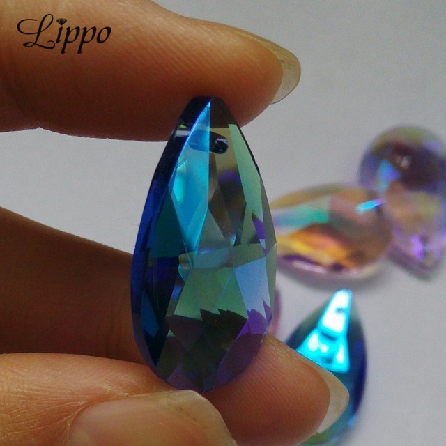 8pcs 28mm faceted teardrop glass crystal charms findings water 8pcs 28mm faceted teardrop glass crystal charms findings water drop loose spacer beads chandelier pear beads mozeypictures Gallery
