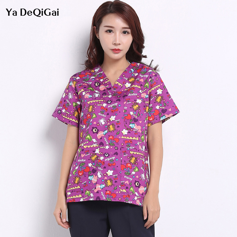 Beauty Salon Uniform Unisex Medical Surgical Cotton Pharmacy White Coat Scrubs Medical Uniform Women Nurse Uniform Work Clothes