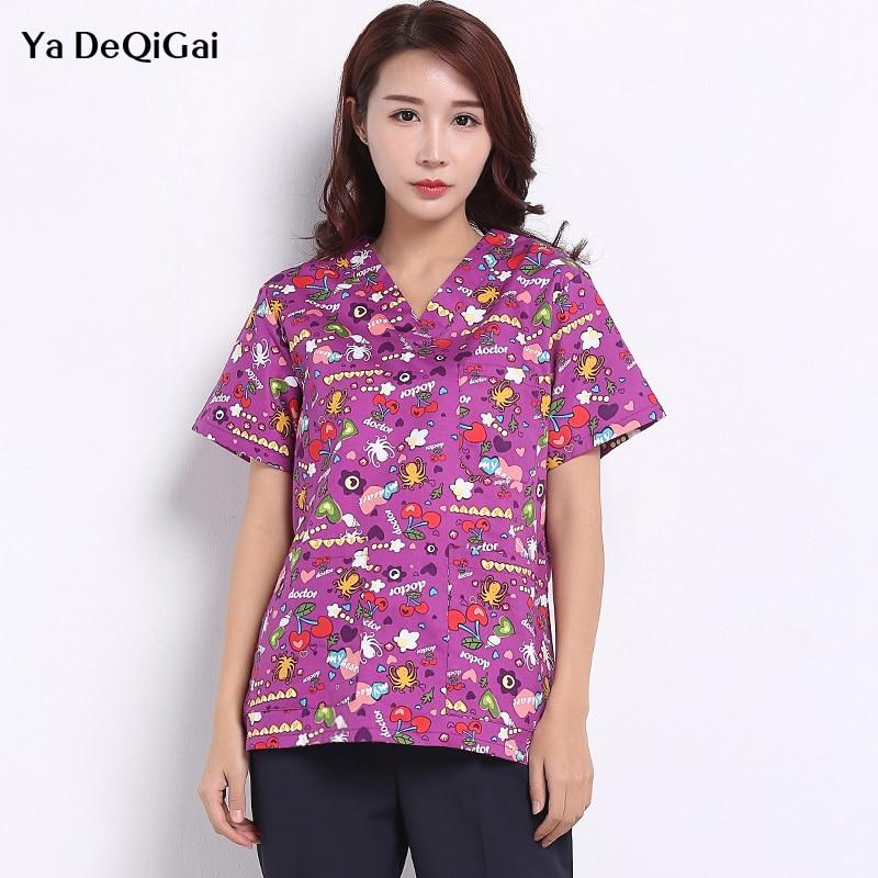 Beauty Salon Uniform Unisex Medical Surgical Cotton Pharmacy White Coat Scrubs Medical Uniform Women Nurse Uniform Work Clothes