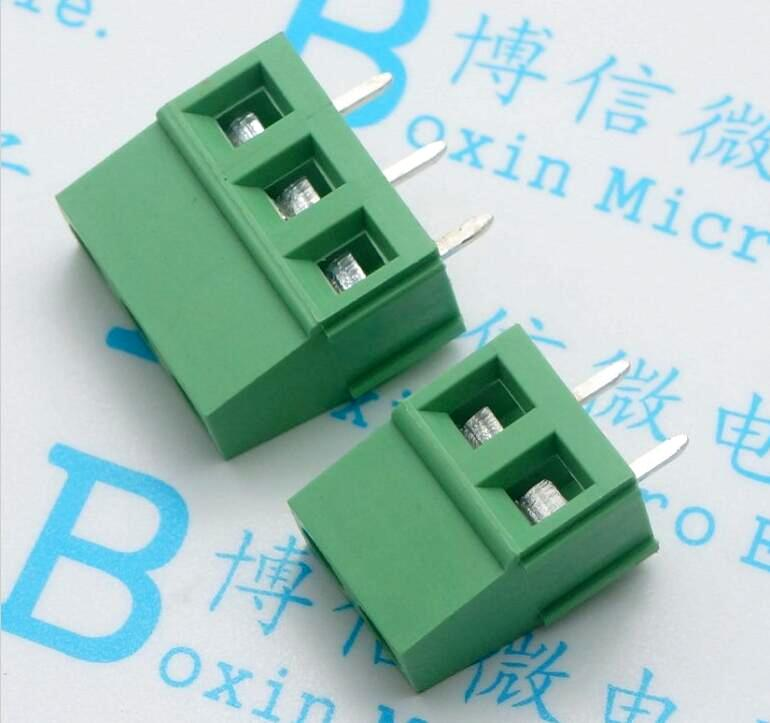 KF128 5.08 Terminal 3.81mm/5.0mm pin posts Green spliced PCB connector with screw 20078 2 pin pcb screw terminal block connectors green 15 piece pack
