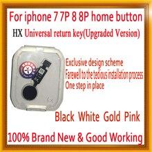 Новый JC HX универсальная домашняя кнопка для iphone 7/7 plus/8/8 плюс Кнопка возврата ключа сзади функции и снимок экрана без touch ID
