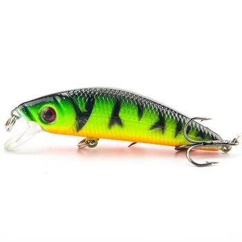 1Pcs Minnow fishing Lure Jig Wobblers iscas artificiais pesca 7cm 8.5g swimbait crankbait fishing tackle