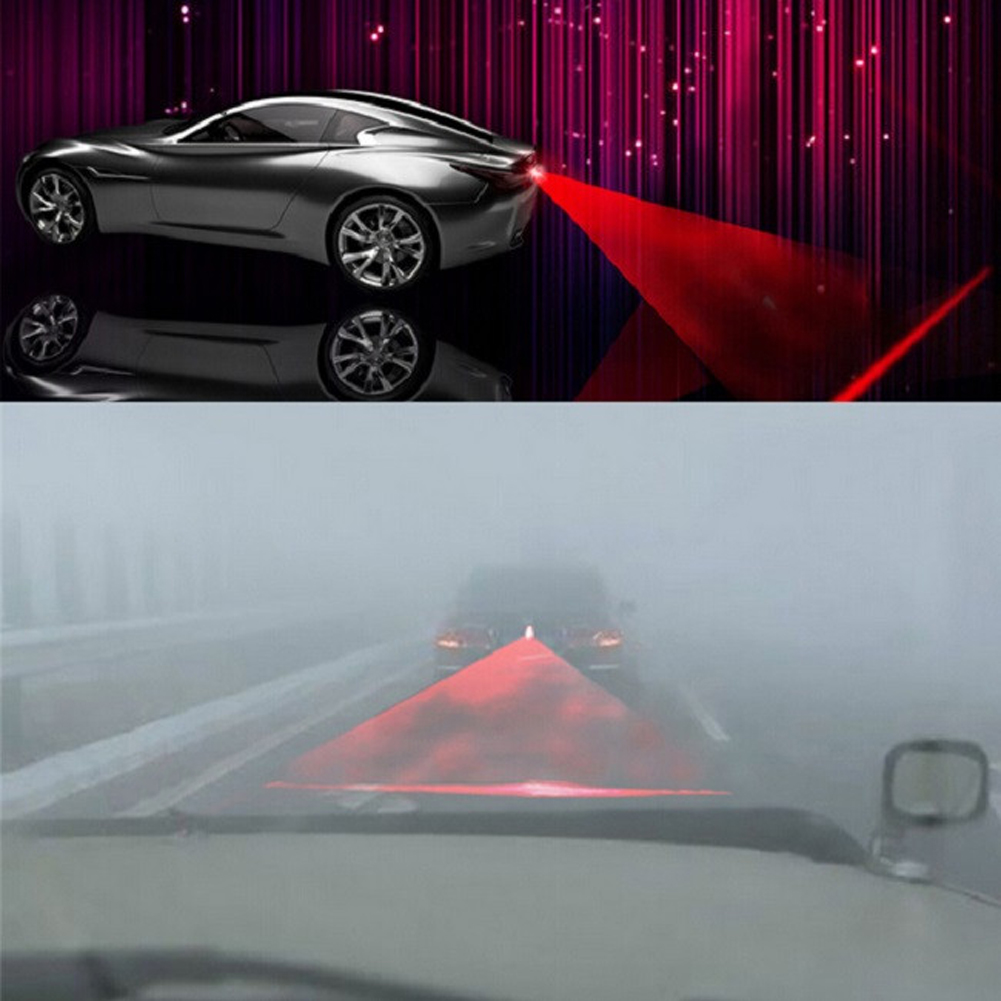 Car-styling Anti Collision Laser Light Automotive Lazer Taillight Fog Lamp Parking/Warning Alarm Lights for Motorcycle Truck 12V car tracing cauda laser light for volkswagen vw jetta mk6 bora 2010 2014 special anti fog lamps rear anti collision lights
