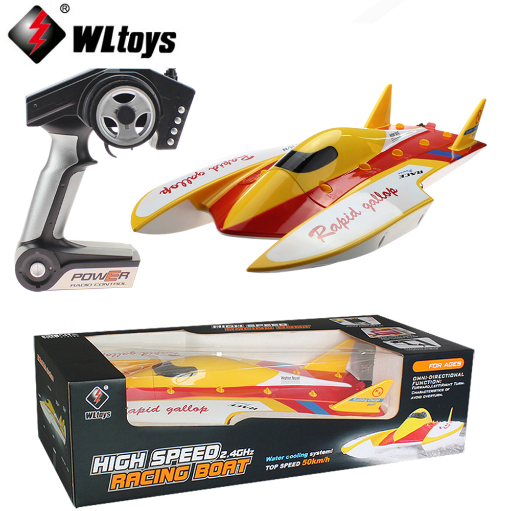 EMS/DHL shipping WLtoys WL913 2.4G Remote Control Brushless Motor Water-Cooling System High Speed 50km/h RC Racing Boat dhl ems 1pc axiomtek hongda industrial control board sbc 845gv