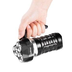 Image 4 - Sofirn SD01 Scuba Diving Flashlight 3* Cree XPL 3000LM LED Light Underwater Searchlight 18650 Powerful Dive Light LED Flashlight