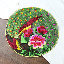 1pc phonix peony embroidered Patches for Clothing sew on Embroidery parches Clothing Applique Decoration carton Badge 1pc landscape embroidered patches for clothing sew on tree embroidery parches for backpack clothing applique decoration badge