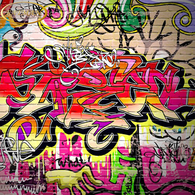 Custom 3d photo wallpaper graffiti alphabet wallpaper - Graffitis en papel ...