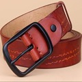 Genuine Leather Belts For Men Cowskin Pin Buckle Leather Designer Mens Belt