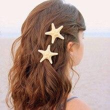 Fashion Starfish Hair Clips Sea Shell Mermaid Boho Star Fish Beach Festival Clip
