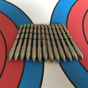 Image 2 - 12pcs חץ וקשת 4.2mm ראשי חץ ירי בפועל פנימי הכנס סוג נקודת יעד טיפים ציד אביזרי משמש פחמן חץ פיר