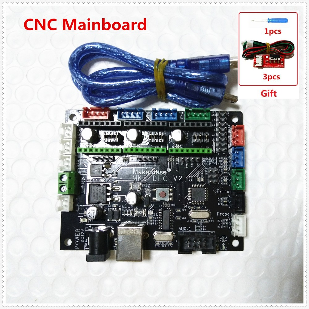 MKS DLC GRBL CNC Shield controller mainboard GRBL CNC engraving laser control board DIY CNC USB 3 axis stepper motor driver electronic blocks diy cnc laser engraving machine control board 3 axis grbl toy parts