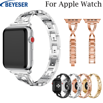 For Apple Watch Band 42mm Black Gold Stainless Steel Bracelet replacement Metal Strap For Apple Watch Band 38mm For Watch band marc saltzman apple watch for dummies
