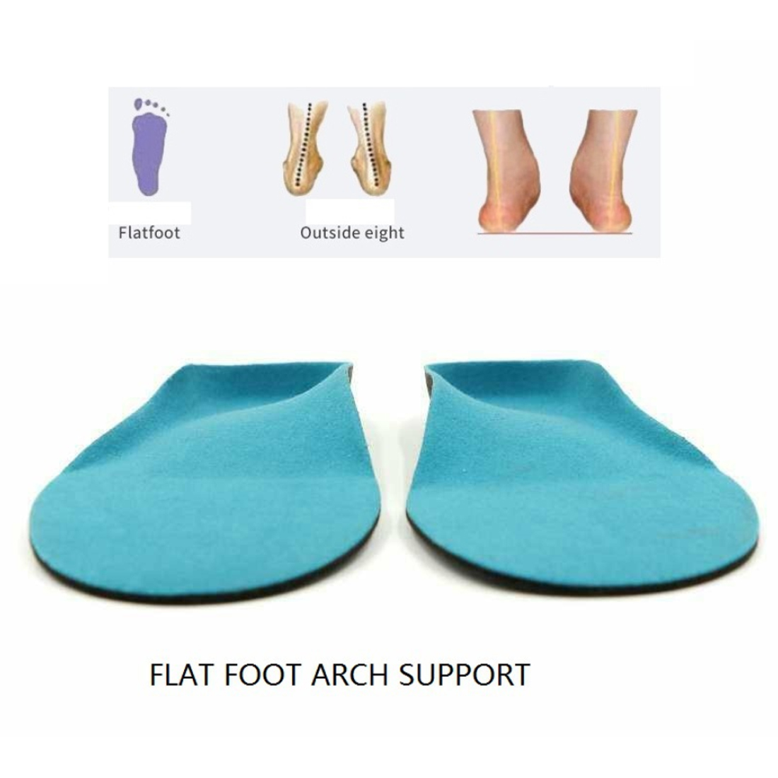Unisex Insoles Orthotic Arch Support Shoe Pad 1Pair Free Size Gel Insoles Insert Cushion for Men Women