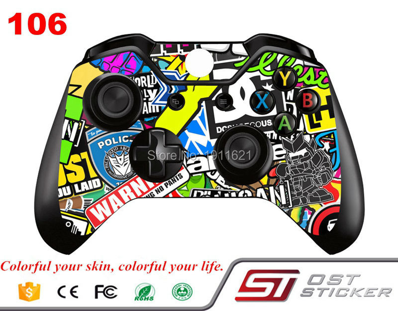 Stickerbomb Skin Sticker For Xbox One Wireless Controller Skins Protective Decal Cover