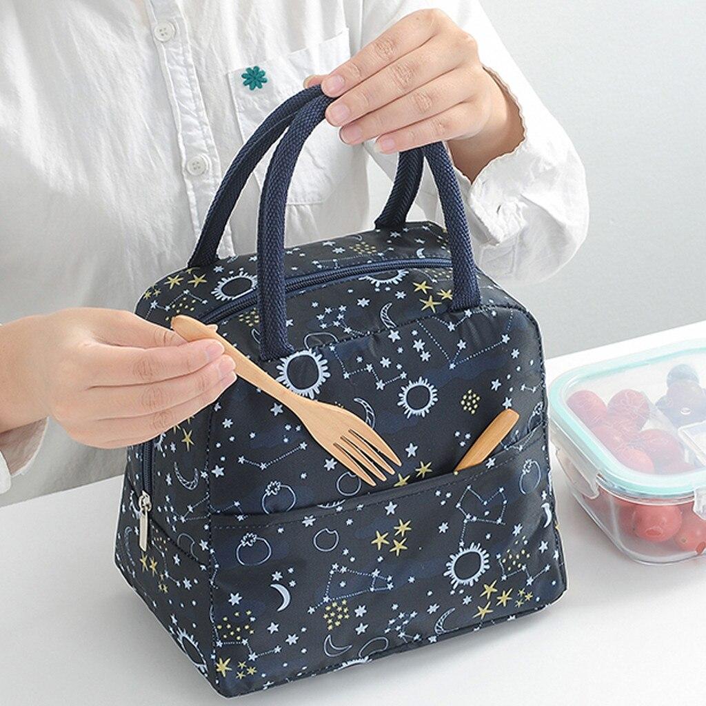 Portable Lunch Bag Women Reusable Cold