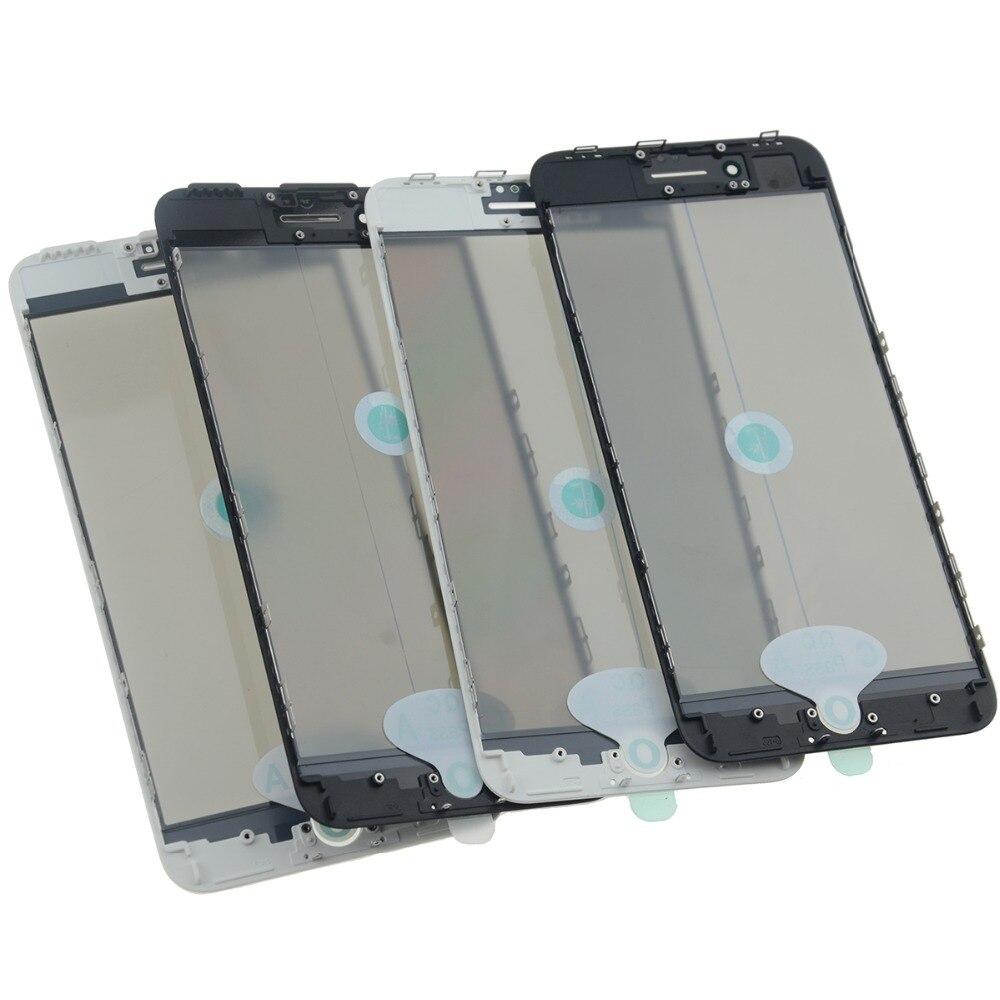 AAA Kaltpressung 4 in 1 Frontscheibe Glaslinse mit rahmen Polarisator OCA für iphone 8 7 7 plus 6 6 s 5 5 s Touch Panel Ersatz