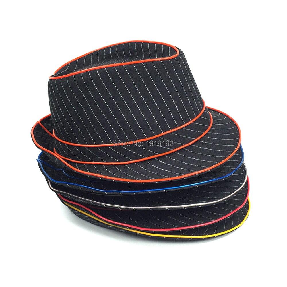 Wholesale 10 pcs Glow Hat 10 Colors Select LED Hats men EL Wire ...