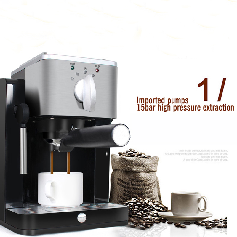 Household Automatic Espresso Coffee Machine High Pressure Pump Coffee Maker TSK-1827RA household italian semi automatic pump coffee machine pressure steam cappuccino coffee maker coffee pot cm 4656