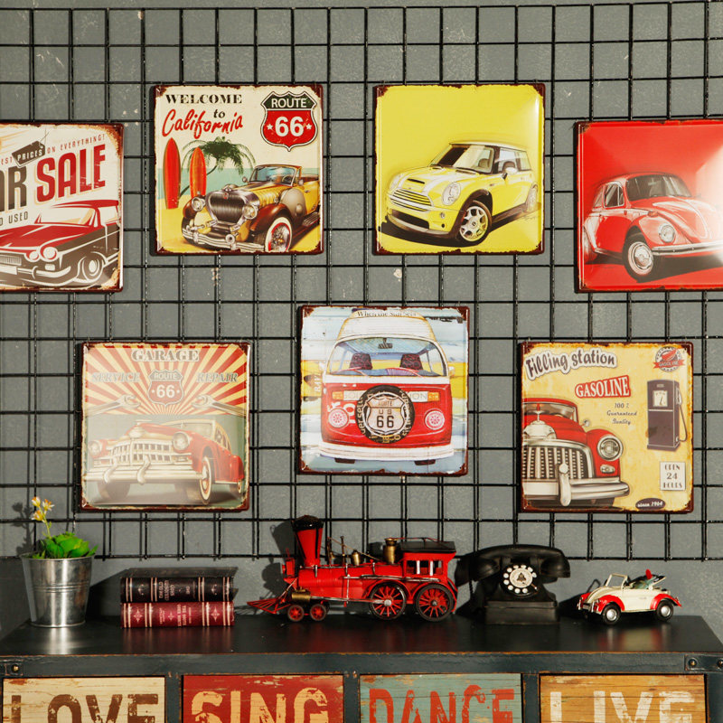 Vintage Car <font><b>License</b></font> Metal <font><b>Plate</b></font> Vintage Home Wall Decor Tin Signs Bar Pub Cafe Decor Metal Sign Garage Painting Plaque Sticker