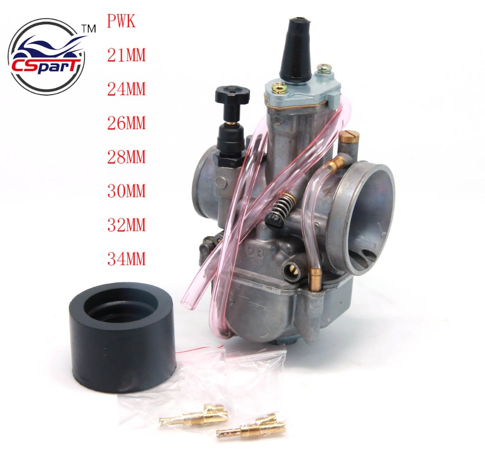 <font><b>PWK</b></font> 21 24 26 28 30 32 34 21MM 24MM 26MM 28MM 30MM 32MM <font><b>34MM</b></font> Racing Carburetor For Koso OKO Keihin With Power Jet image