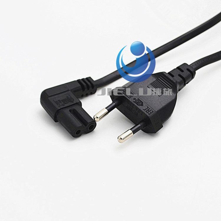 цена на European 2pin male to IEC 320 C7 power cord, Angled IEC C7 cord 5M,5 PCS