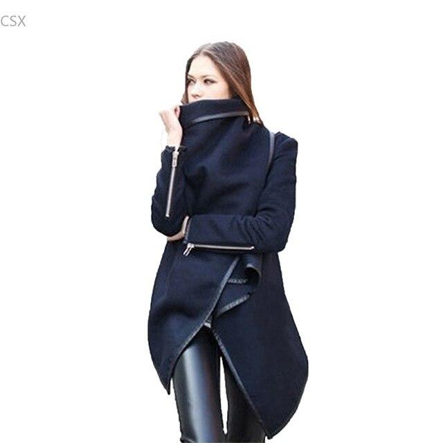 2016 Новая Мода Женщины Шерсть Зимнее Пальто Шерстяные С Длинным Рукавом Пальто Тренчкот Женщины Clothing Плюс Размер