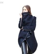 2016 New Fashion Women Wool Winter Coat Woollen Long Sleeve Overcoat Trench Coat Woman's Clothing Plus Size