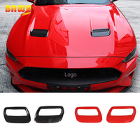 BAWA Car Stickers for Ford Mustang 2018+ ABS Engine Air Outlet Cover Decoration Sticker