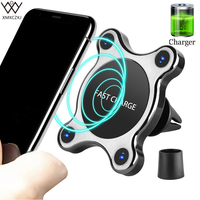 XMXCZKJ New Magnetic Wireless Car Charger Mount Holder For Iphone 8 X Samsung S7 S8 For Air Vent Dashboard Magnet Car Holder