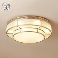 Латунь Медь круглый светодиодный потолочный светильник современный минималистский заподлицо лампы Luminaira для фойе Гостиная Спальня Кухня