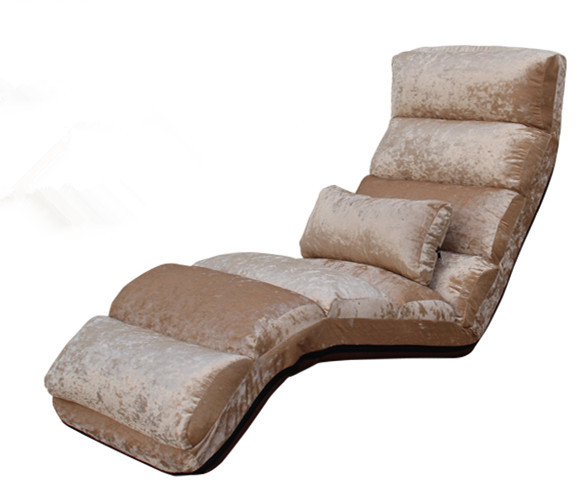Modern Chaise Sofa Upholstered Sleep Lounge Indoor Living Room Reclining Sofa Chair 5 Color Floor Folding Adjustable Sofa Bed