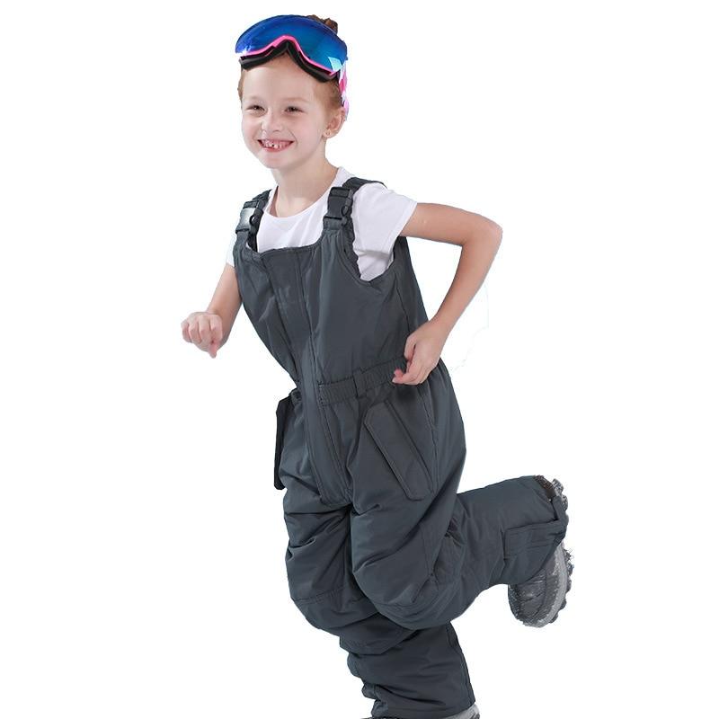 Winter Childrens Skiing Pants Waterproof Girl Snow Trousers Boys Outdoor Assault Suit Warm Windproof Ski Suit