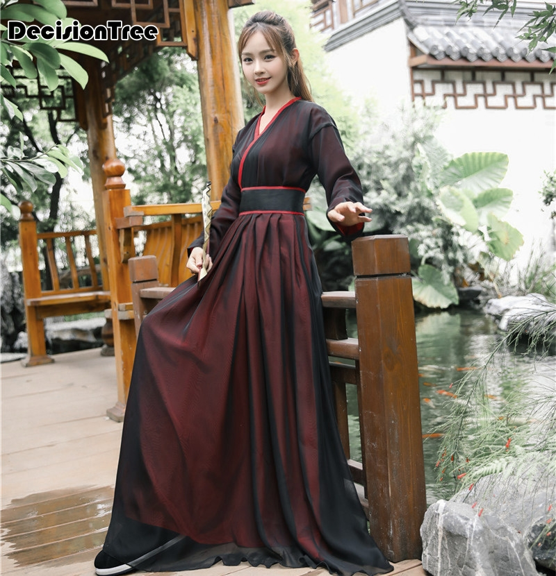 2020 Hanfu National Costume Ancient Chinese Cosplay Costume Ancient Chinese Women Hanfu Clothes Lady Chinese Stage Dress