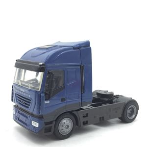 Image 1 - 1:43 sacle alloy iveco Transport vehicles,high simulation iveco Heavy Duty Trailer,Collecting alloy car models,free shipping