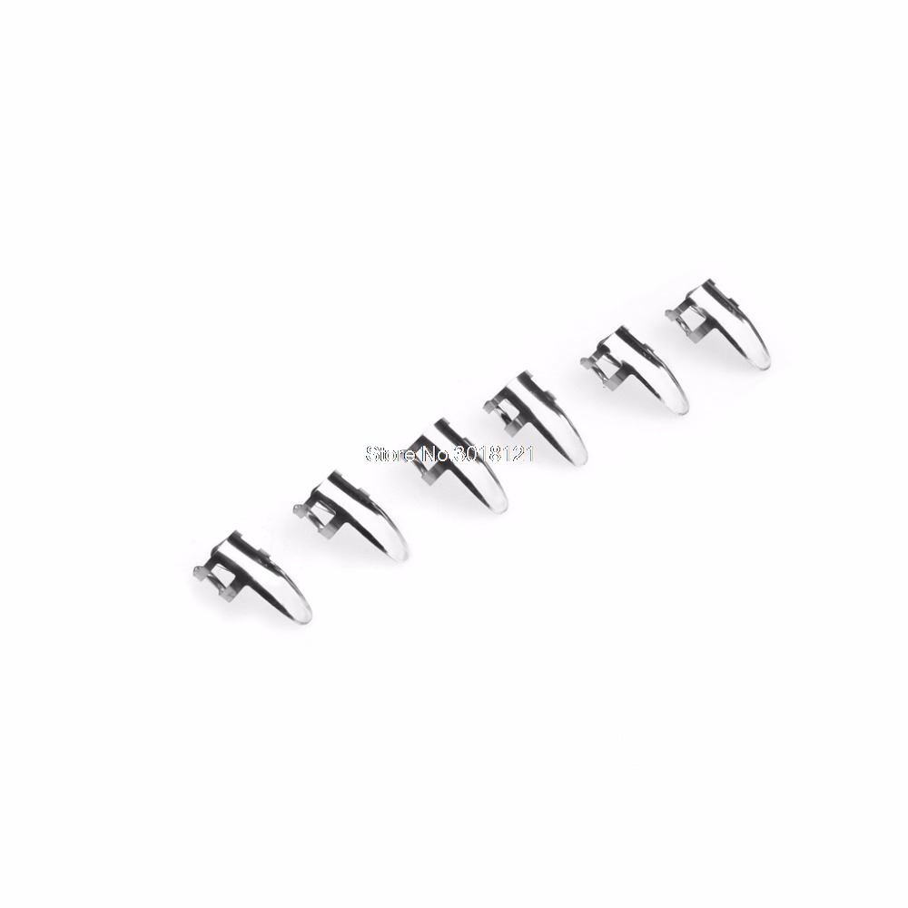 Guitar Accessories 6 Pcs Stainless Steel Metal Finger Pick Plectrums Thumb Picks For Guitar ROU