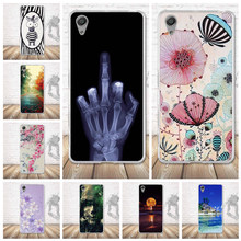 Untuk Sony Xperia X Kinerja Kasus 3D Relief Lukisan TPU Soft Back Case Ponsel Cover UNTUK SONY Xperia X Dual f8132 Case Covers(China)