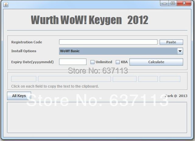 wurth wow keygen 2012